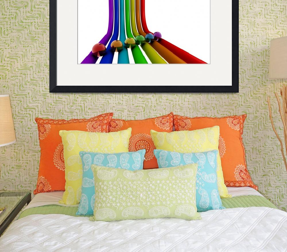 """Rainbow stripes&quot  (2009) by rainbowarts"