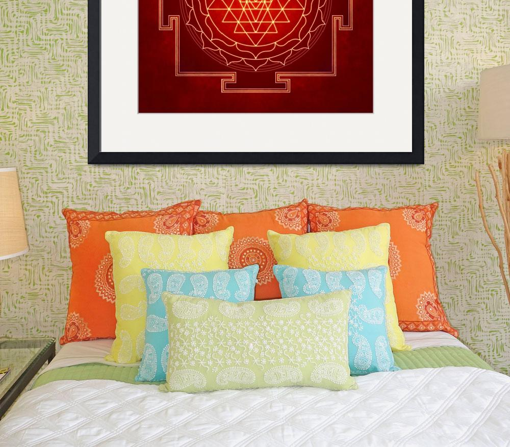 """Sri Yantra Artwork 10&quot  by dcz"