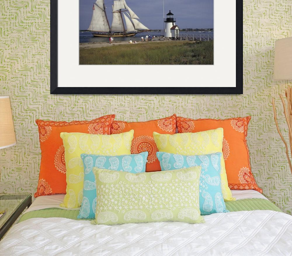 """Schooner Pride ll sails past Nantucket Light&quot  by McallenPhotography"