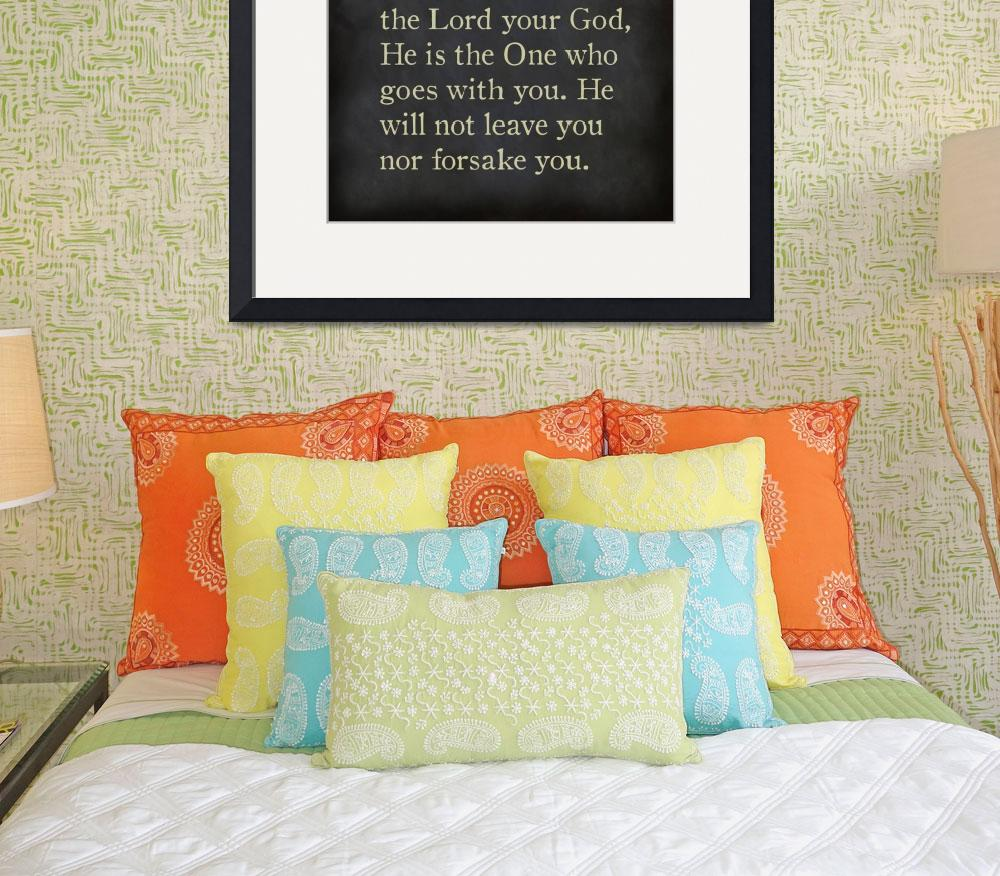 """Deuteronomy 31:6- Bible Verse Wall Art Collection&quot  (2015) by MarkLawrence"
