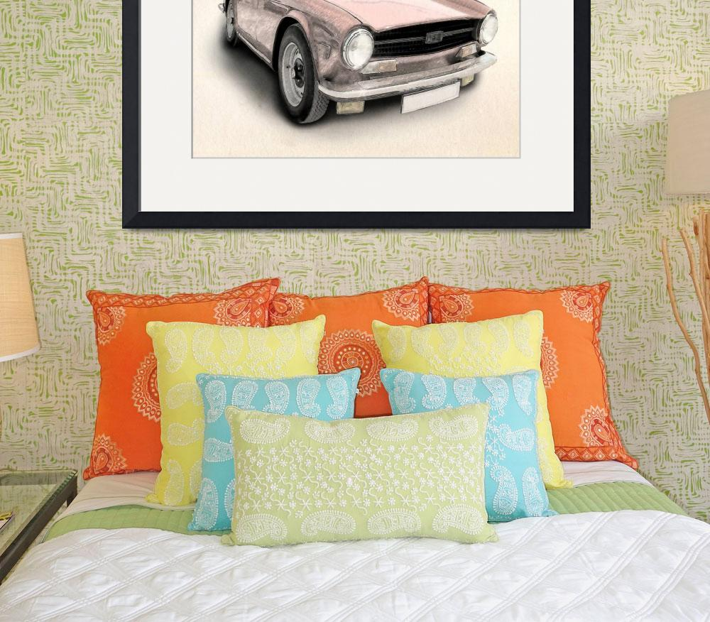 """Triumph TR6&quot  (2010) by ModernArtPrints"