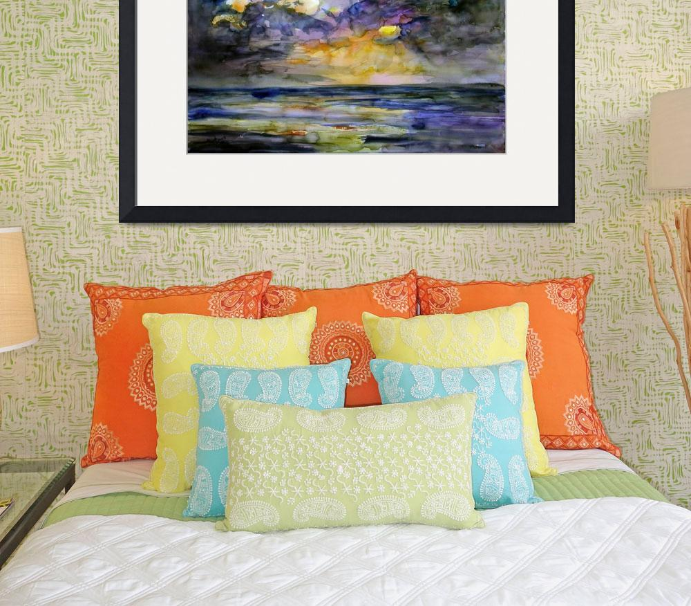 """Stormy Sunrise by Watercolor Ginette&quot  (2005) by GinetteCallaway"