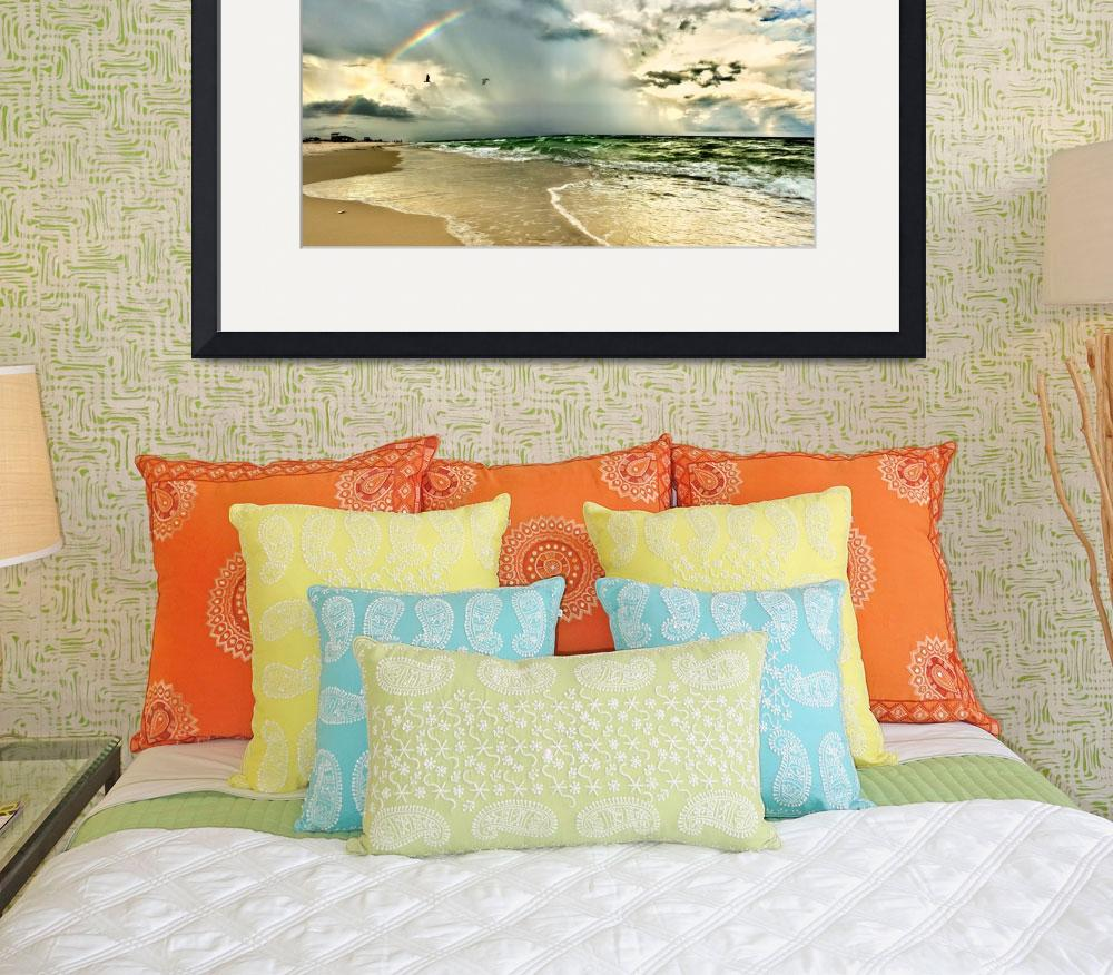 """Rainbow Beach Emerald Green Waves Fine Art Prints&quot  (2010) by eszra"