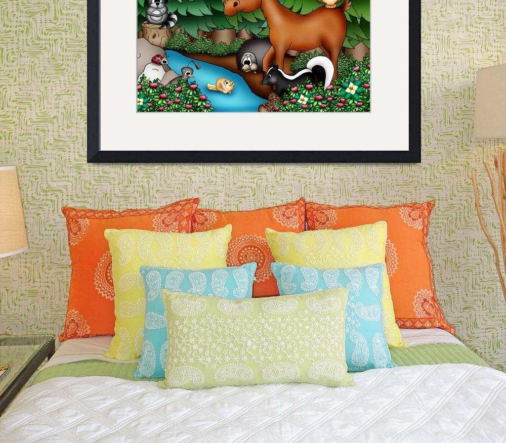 """Forest Animals with Moose&quot  (2010) by just4mebooks"