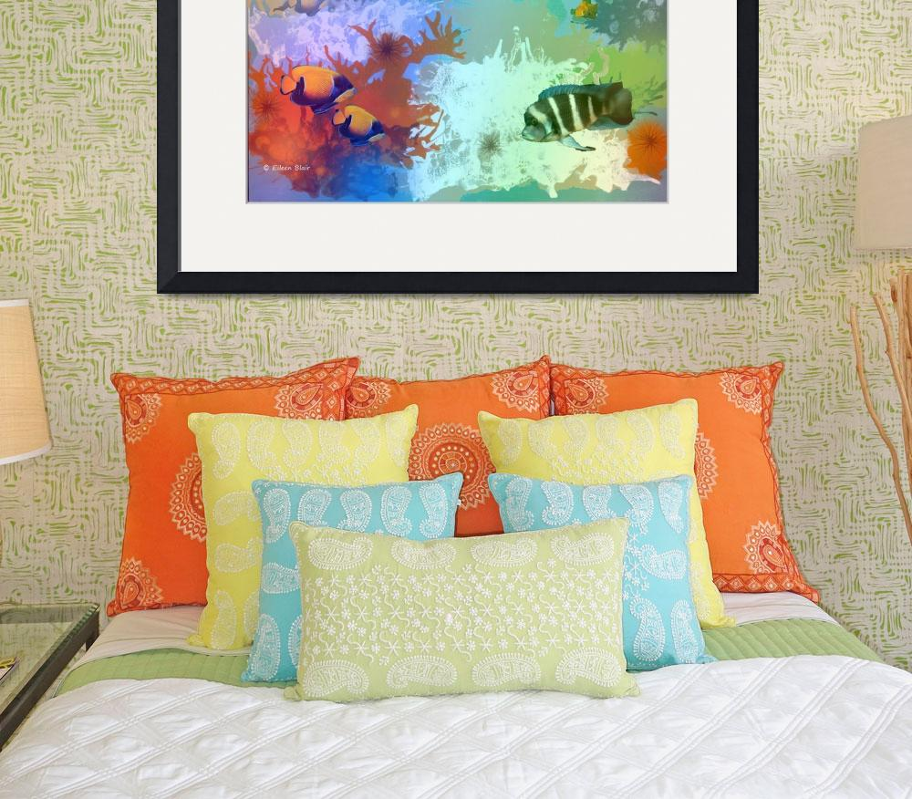 """Coral Reef&quot  (2010) by EMBlairArtwork"