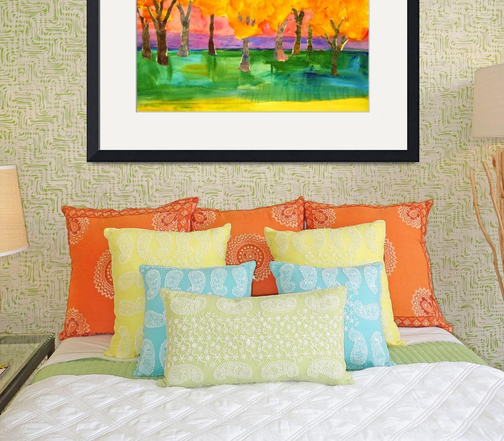 """Tree Art Color Field Painting, Forte Forest&quot  by schulmanart"