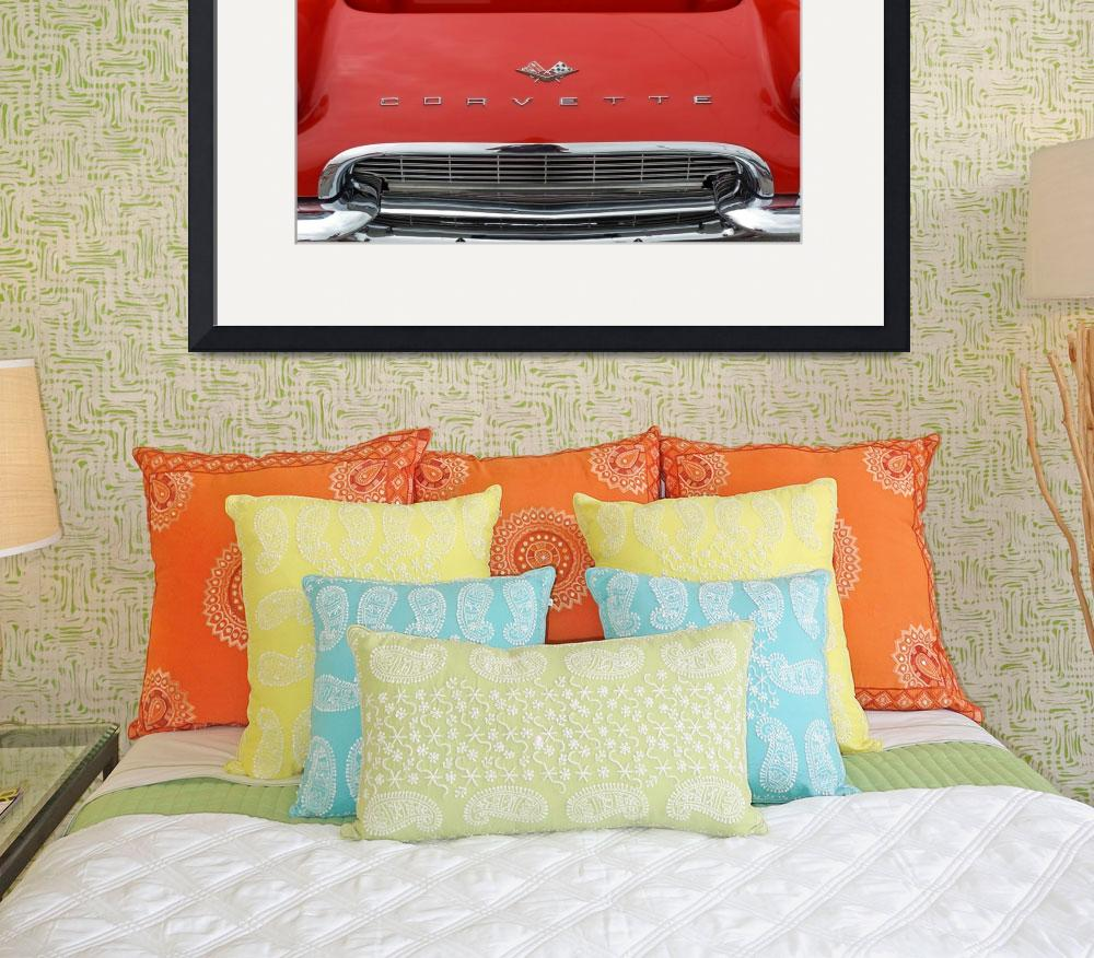 """Classic Car 1961 Red Corvette Hood&quot  (2010) by garthglazier"