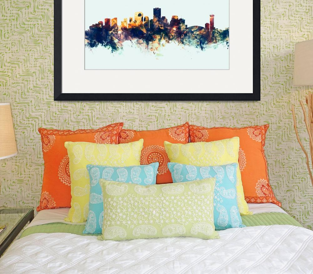"""New Orleans Louisiana Skyline&quot  (2015) by ModernArtPrints"