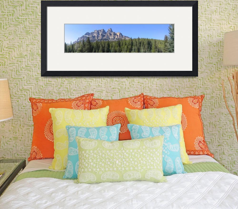 """Castle Mountain Panorama&quot  (2009) by bobb"