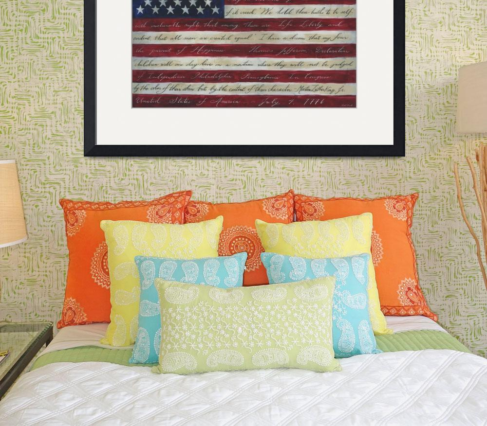 """American Flag I Have a Dream II&quot  (2013) by OneHeartStudio"