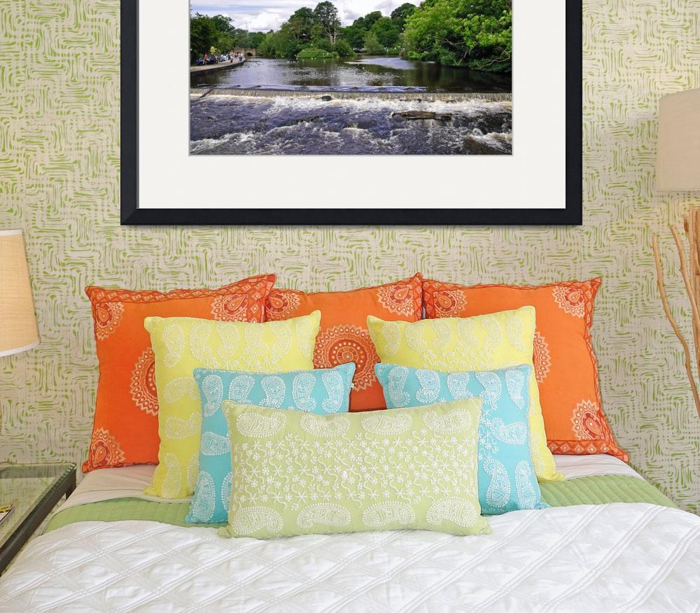 """River Wye and Weir, Bakewell  (18583-RDA)&quot  (2009) by rodjohnson"