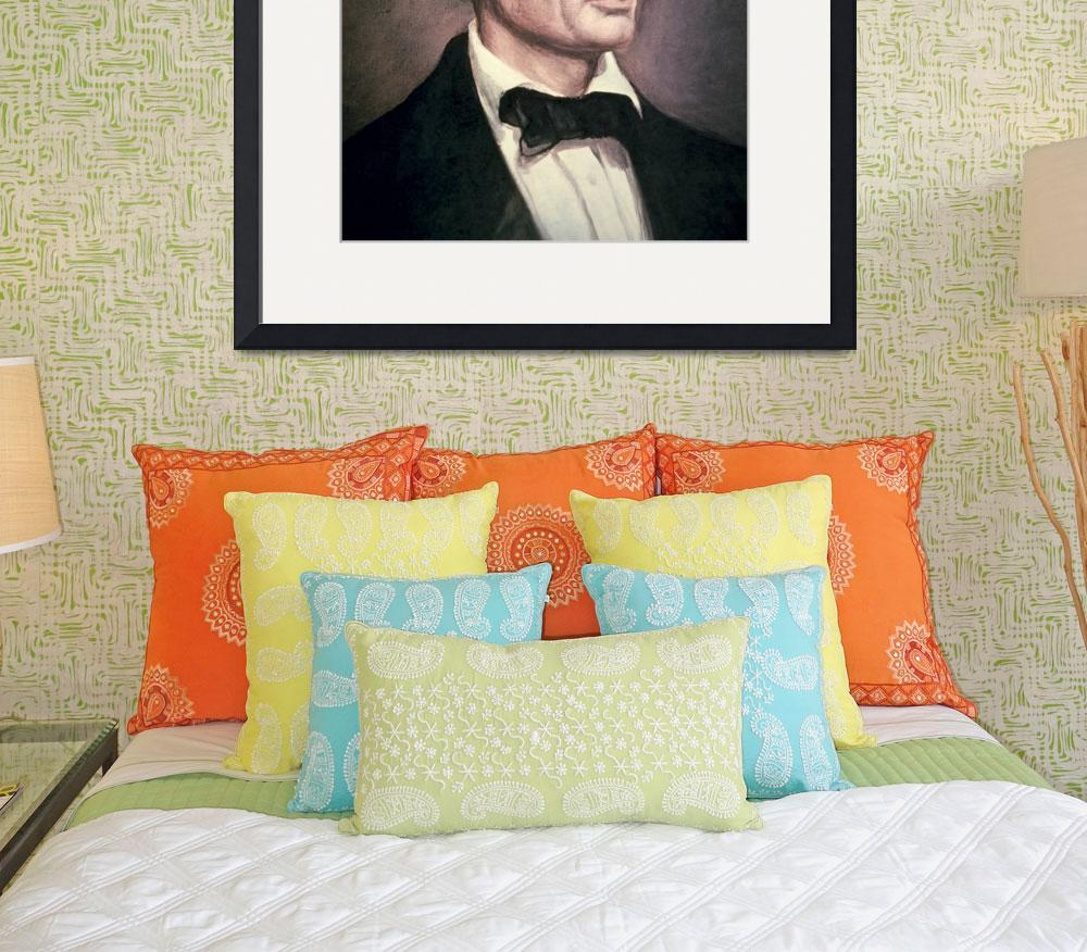 """Portrait of Abraham Lincoln by Healy&quot  by fineartmasters"