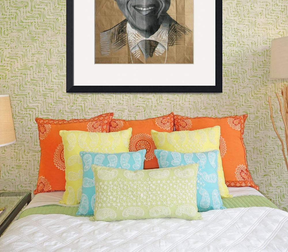 """Nelson Mandela&quot  (2008) by DevonGrey"