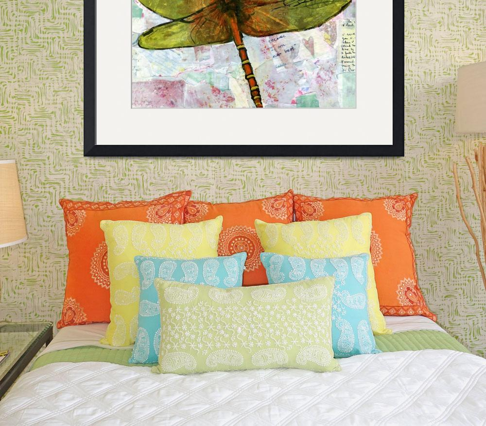 """Voice of the Heart, Dragonfly Print&quot  (2012) by schulmanart"
