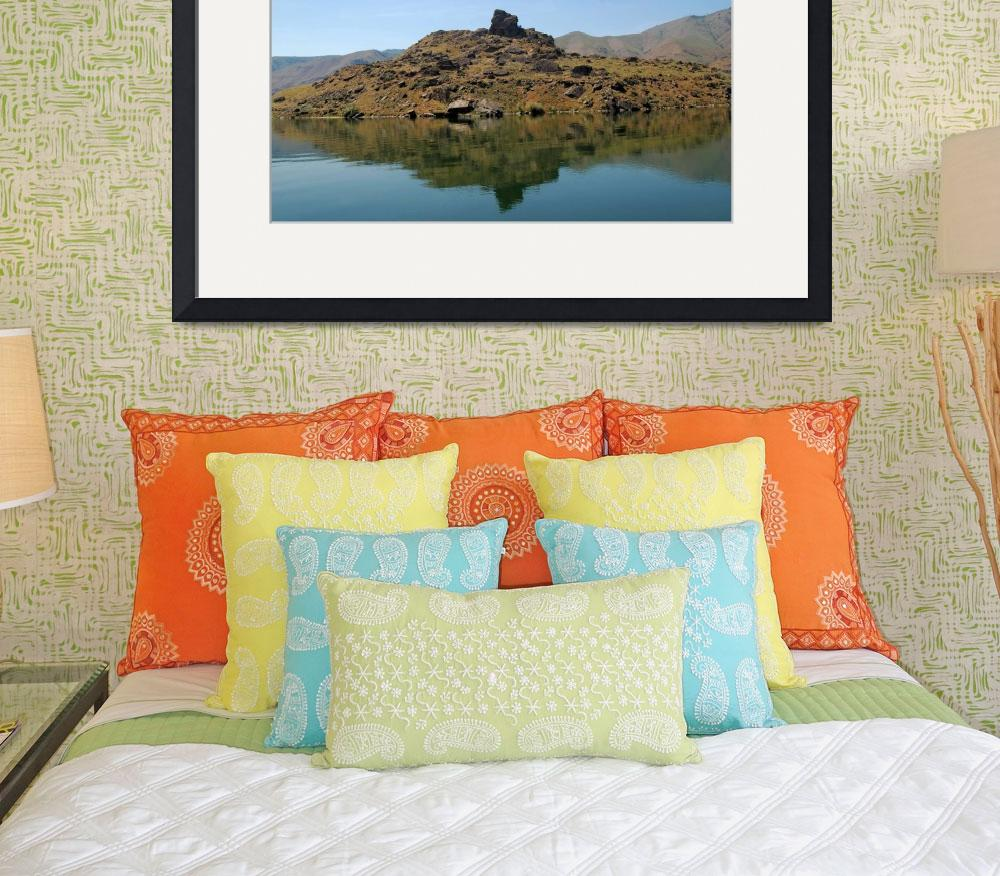 """Lake Entiat Lava Island #1&quot  by budo"