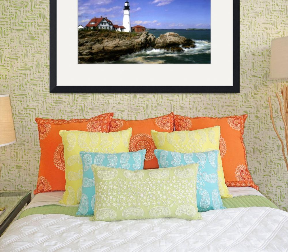 """Maine Lighthouse&quot  (2008) by Artlife"