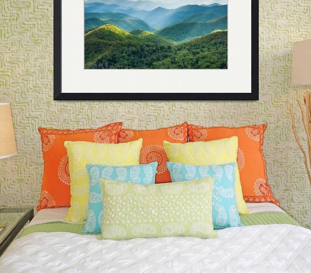 """Blue Ridge Mountain Lush Summer Landscape&quot  (2013) by markvandyke"