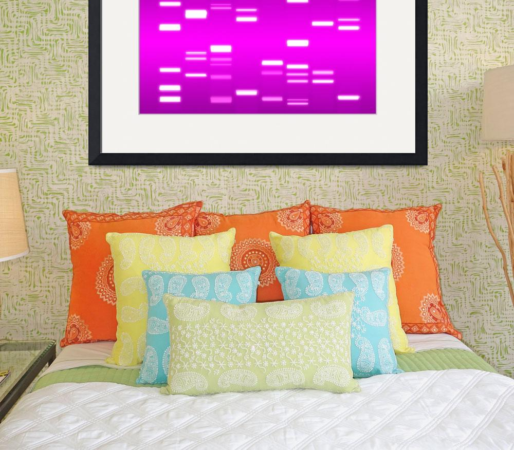 """DNA Art Pink&quot  (2010) by ModernArtPrints"