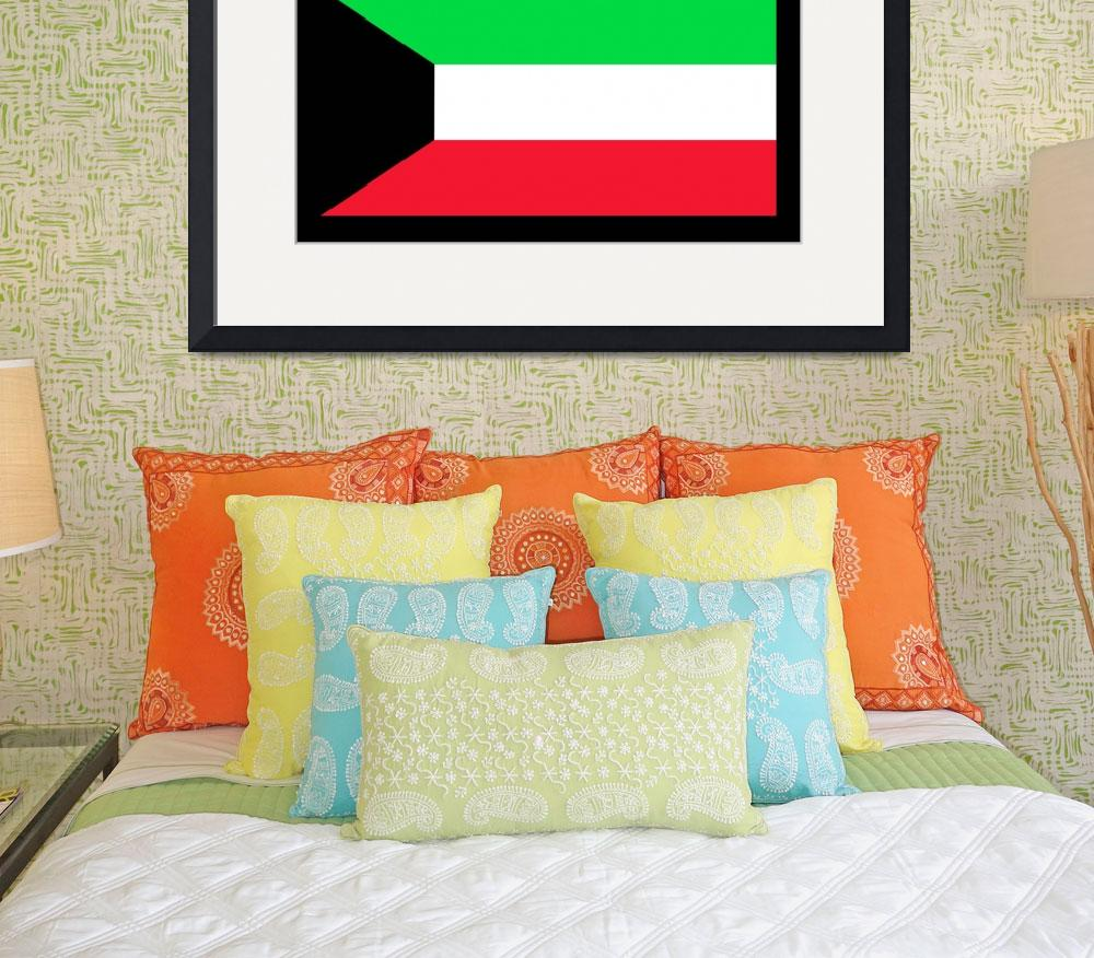 """Kuwait Flag&quot  by KWGart"