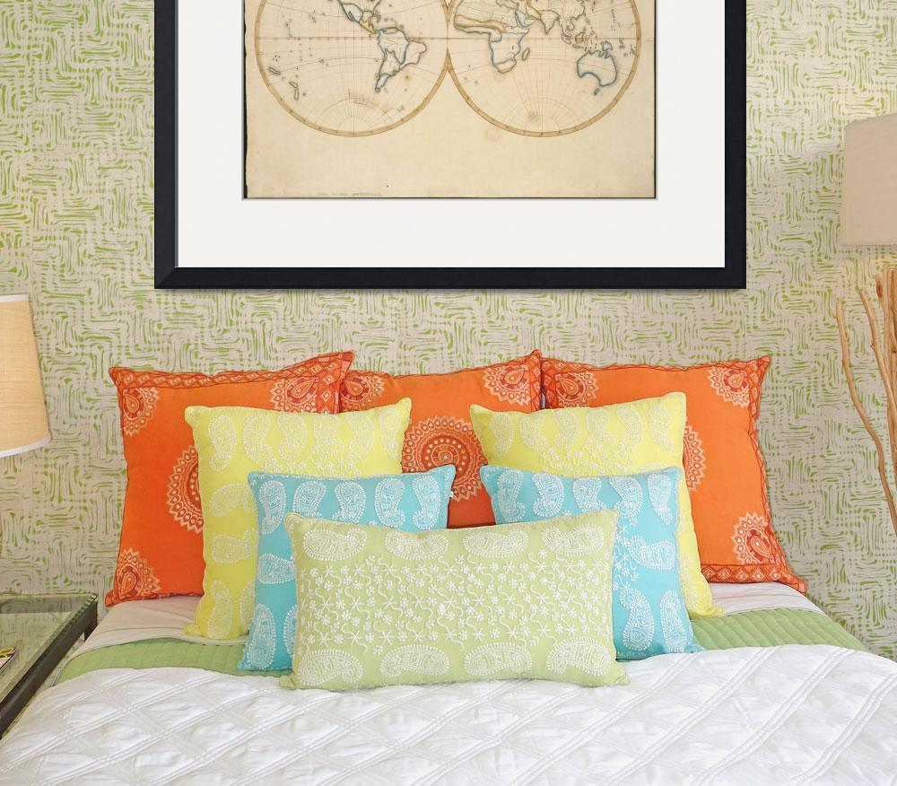 """Vintage Map of The World (1821)&quot  by Alleycatshirts"