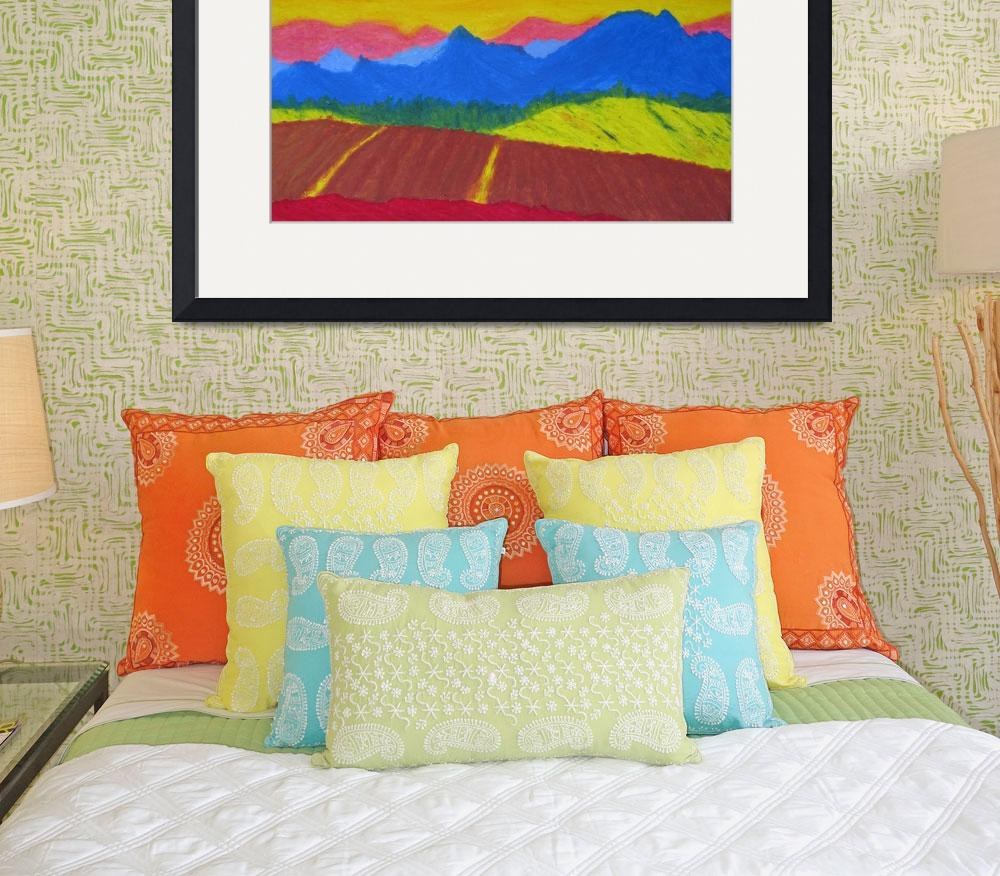 """Mountains in pastel&quot  (2005) by Cocasse"