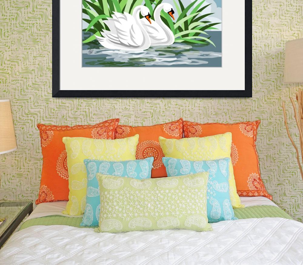 """Mute Swan Painting&quot  (2006) by waterart"