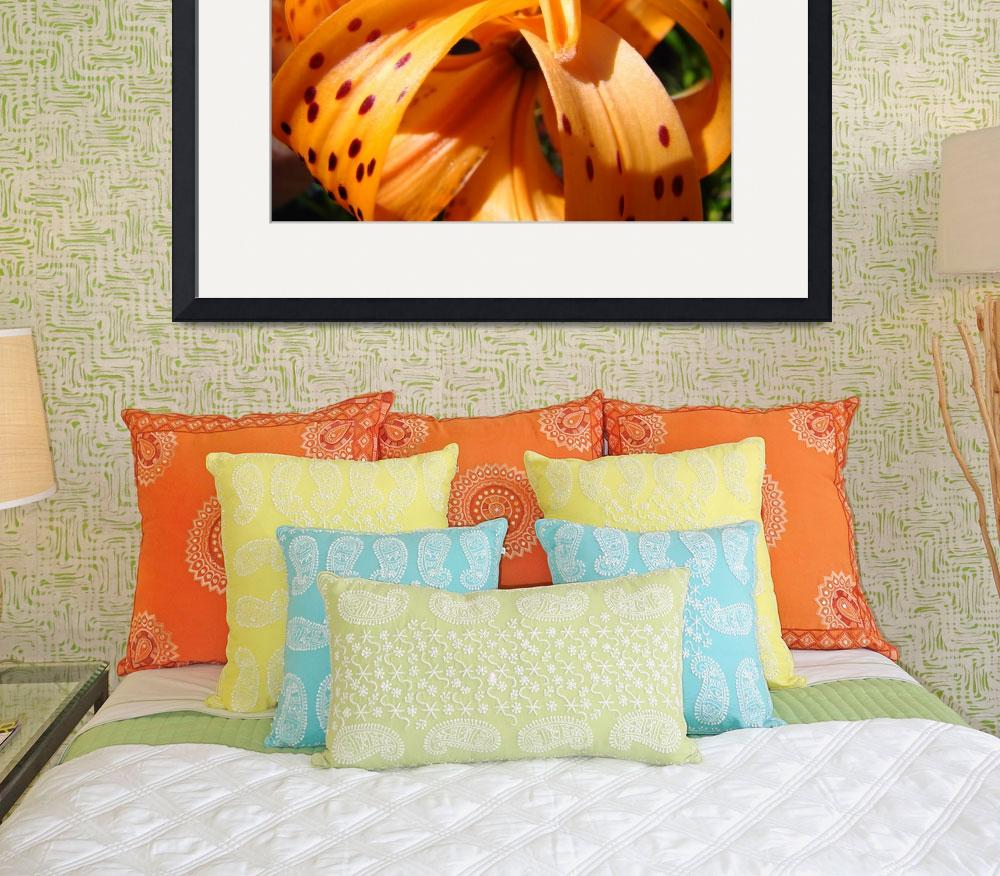 """OFFICE ART Tiger Lily Flower Floral Art Prints&quot  (2009) by BasleeTroutman"
