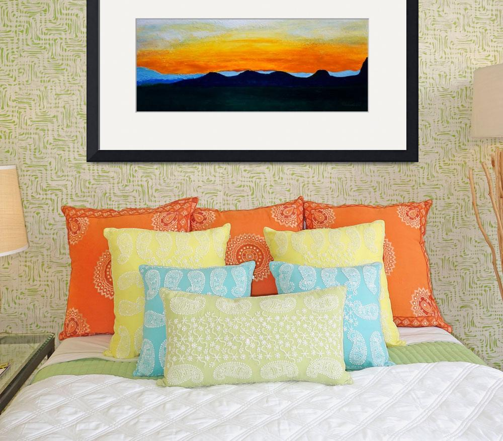 """Sunrise Mountain Dawn Landscape&quot  (2014) by Ricardos"