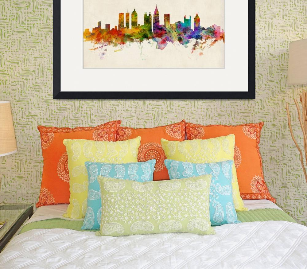 """Atlanta Georgia Skyline&quot  (2013) by ModernArtPrints"