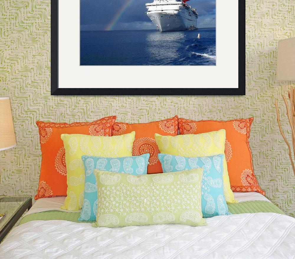 """Cayman Island Rainbow on the Carnival Cruise Inspe&quot  (2013) by EdmondHogge"