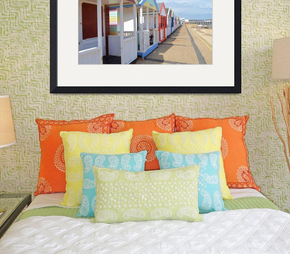 """Colorful English Beach Huts&quot  (2014) by malcolmsnook"