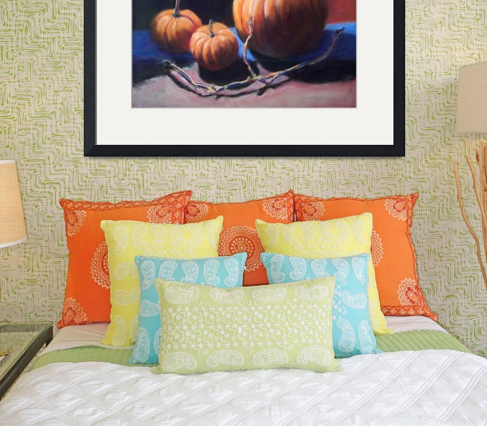 """Pumpkins & Vine&quot  (2008) by LittletonStudioPrints"