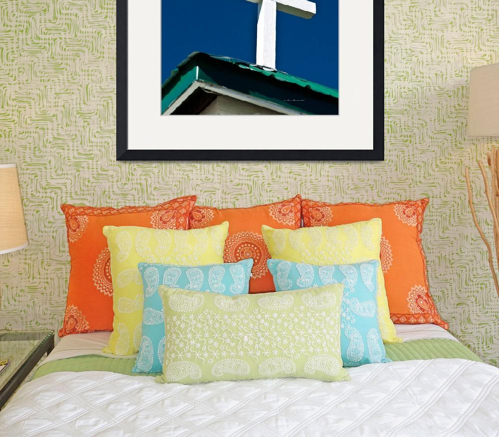 """Cross on Esterbrook Church&quot  (2012) by SamSherman"