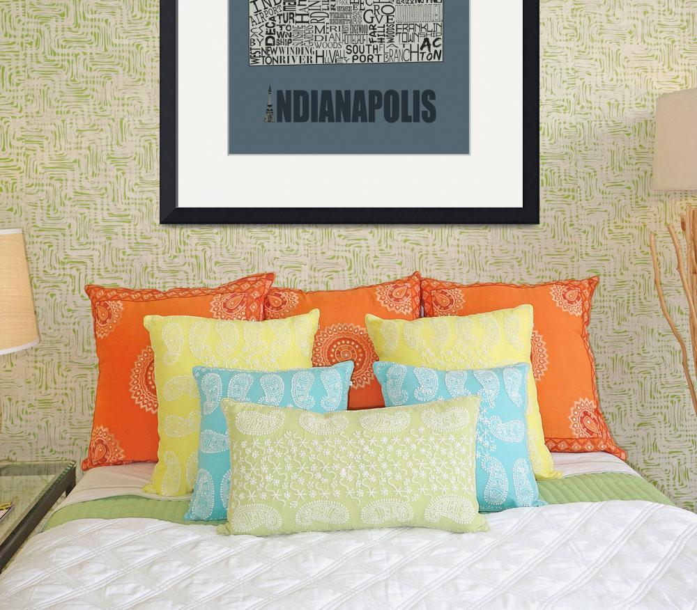 """Indianapolis Neighborhoods - Poster 5&quot  by RossPhotoWorks"