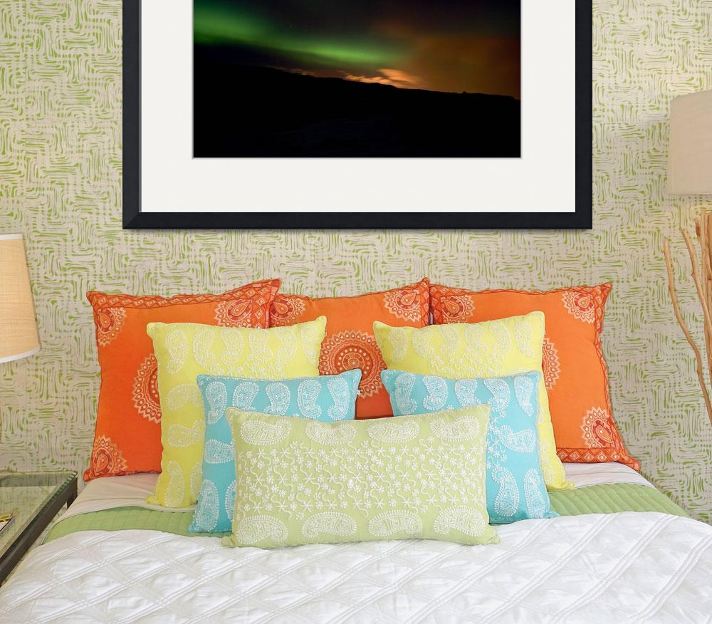 """Aurora in Reykjanes Peninsula #1&quot  (2009) by falconcreations"