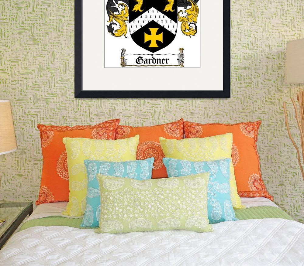 """GARDNER FAMILY CREST - COAT OF ARMS&quot  by coatofarms"
