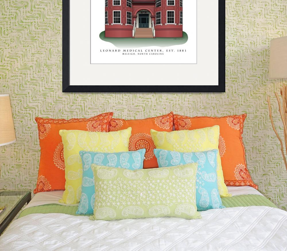 """Leonard Hall in Raleigh, North Carolina&quot  (2008) by ArchiPrints"