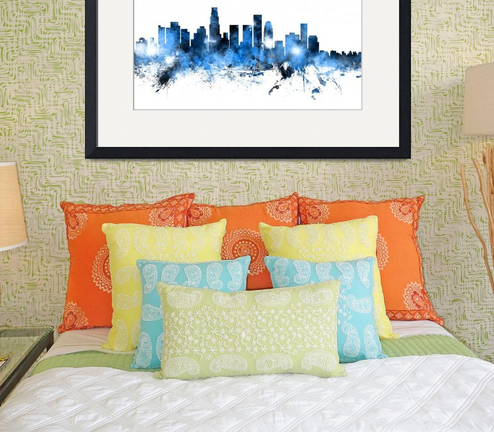 """Los Angeles California Skyline&quot  (2014) by ModernArtPrints"