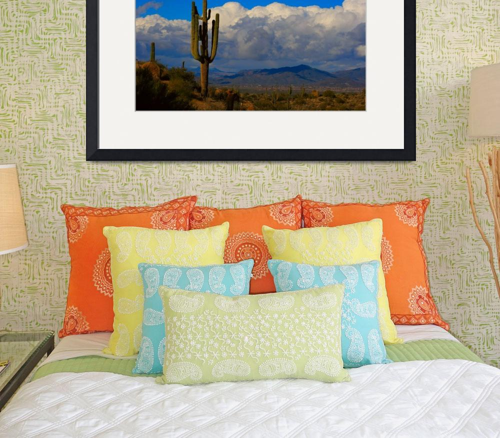 """Southwest Desert Landscape&quot  (2010) by lightningman"