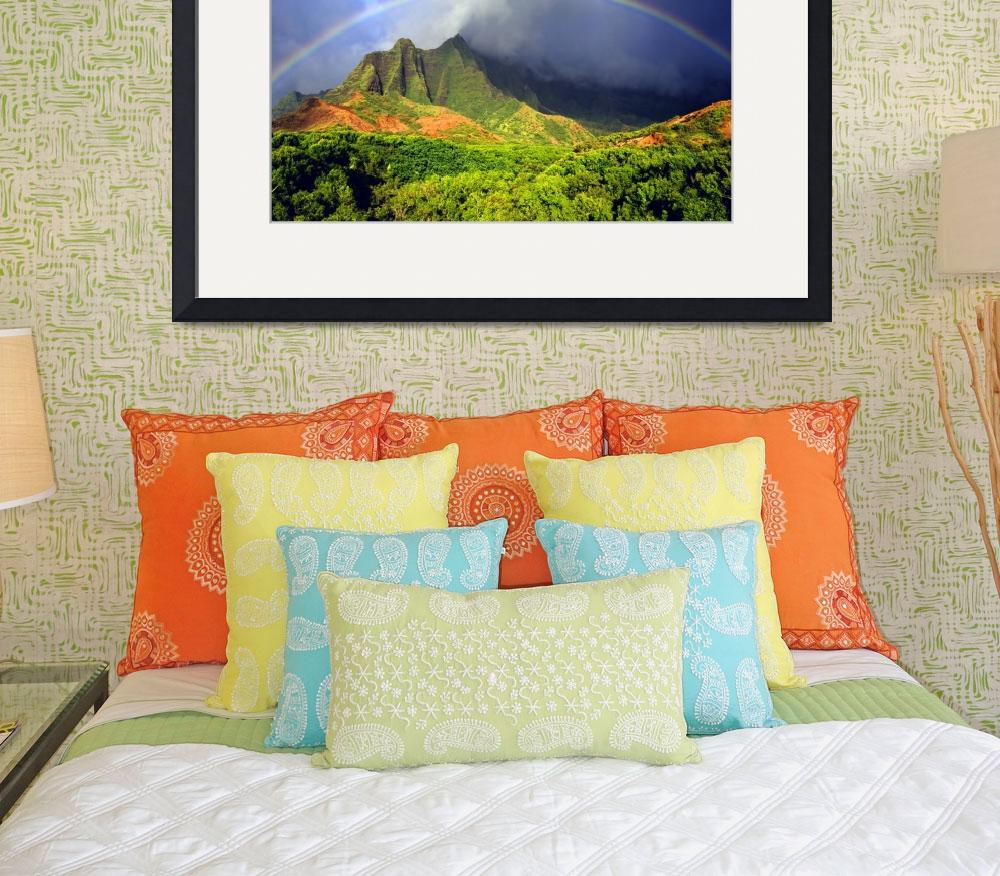 """Kalalau Valley Rainbow&quot  (2008) by skystudiohawaii"