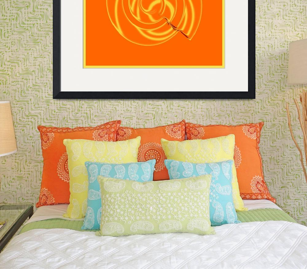 """Orange Metal Swirl&quot  (2015) by TrudyClementine"