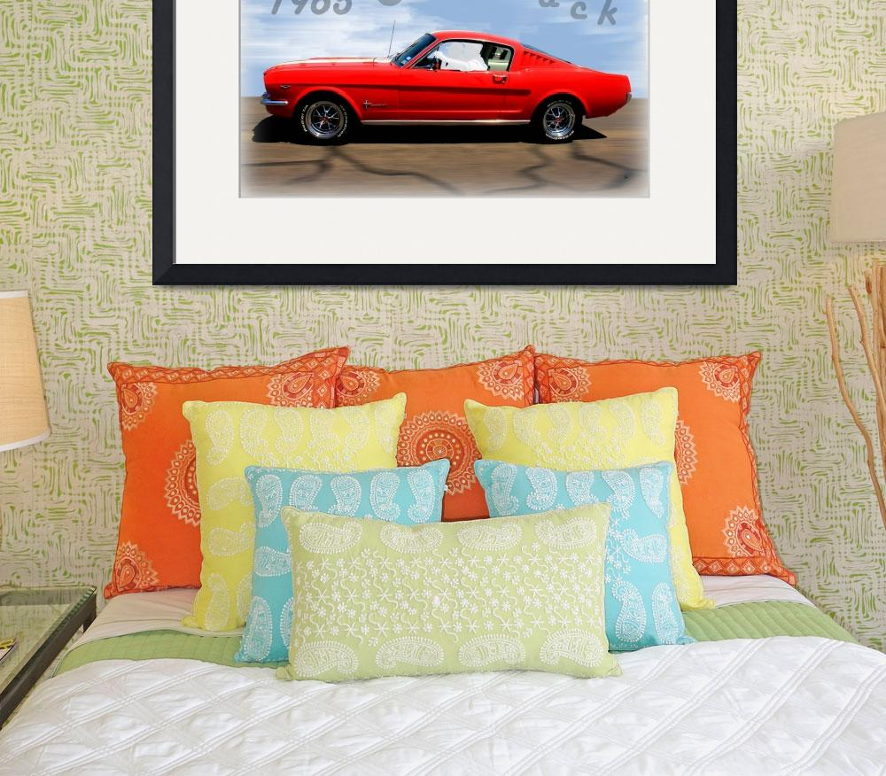 """1965 Ford Mustang Fastback&quot  (2014) by bettynorthcutt"