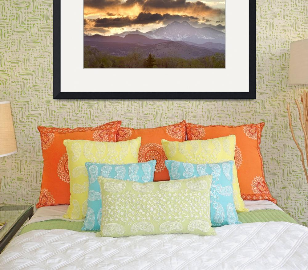 """Rocky Mountain Springtime Sunset&quot  (2012) by lightningman"