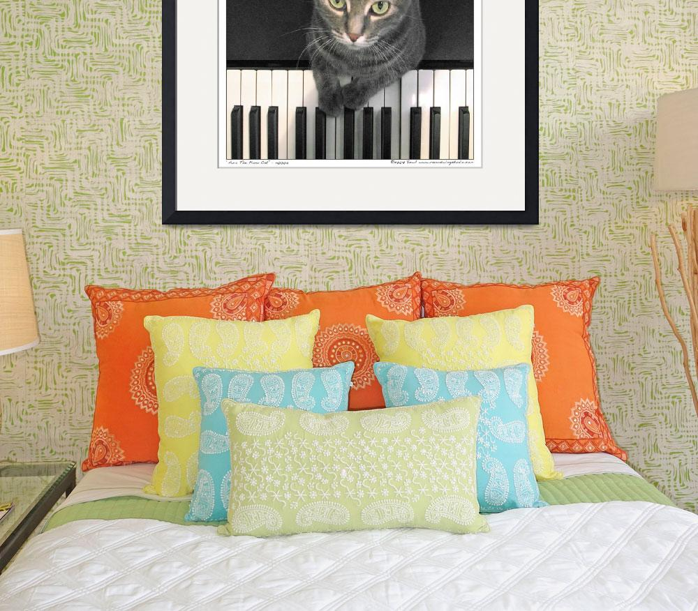 """Nora The Piano Cat™ - n0005&quot  by ravenswingstudio"