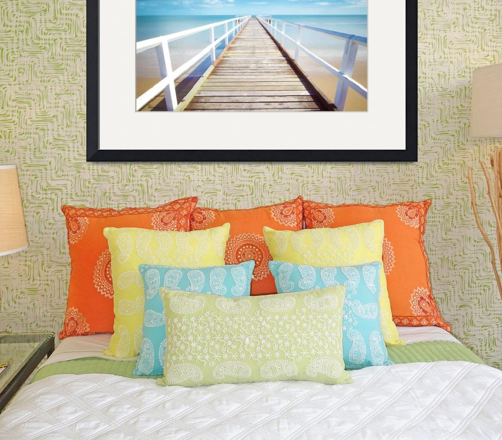 """Treasue Coast Florida Pier Seascape C2&quot  (2015) by Ricardos"