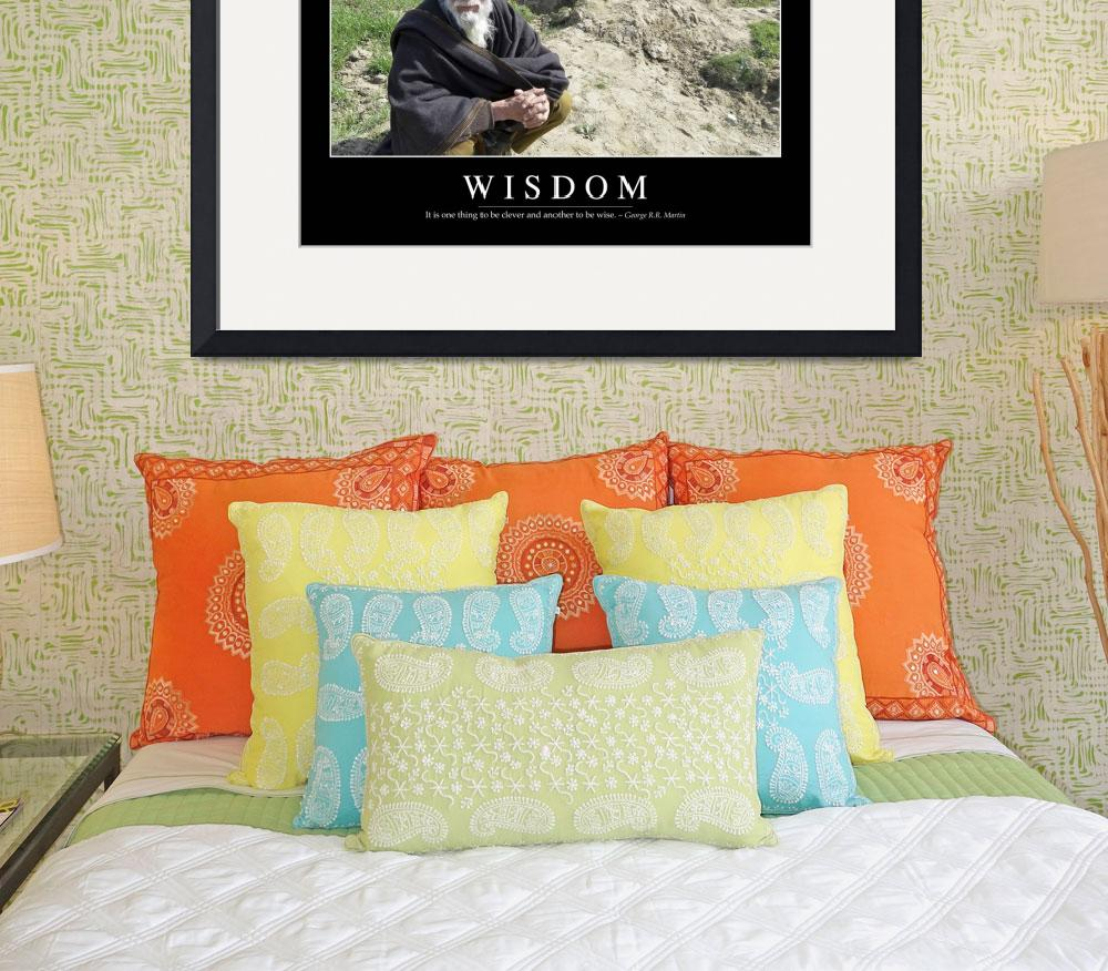 """Wisdom: Inspirational Quote and Motivational Poste&quot  by stocktrekimages"
