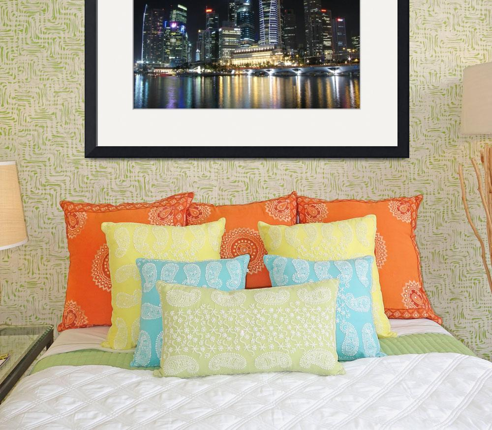 """City by Night , Singapore (classic series)&quot  (2009) by sghomedeco"