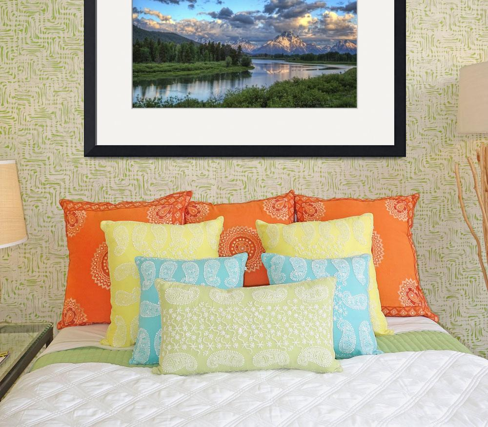 """Sunrise At Oxbow Bend&quot  (2011) by GlendaBorchelt"