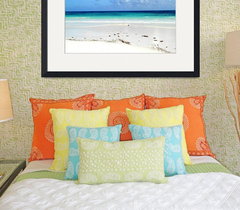 """Walking the Beach, Bahamas&quot  by paulyworksfineart"