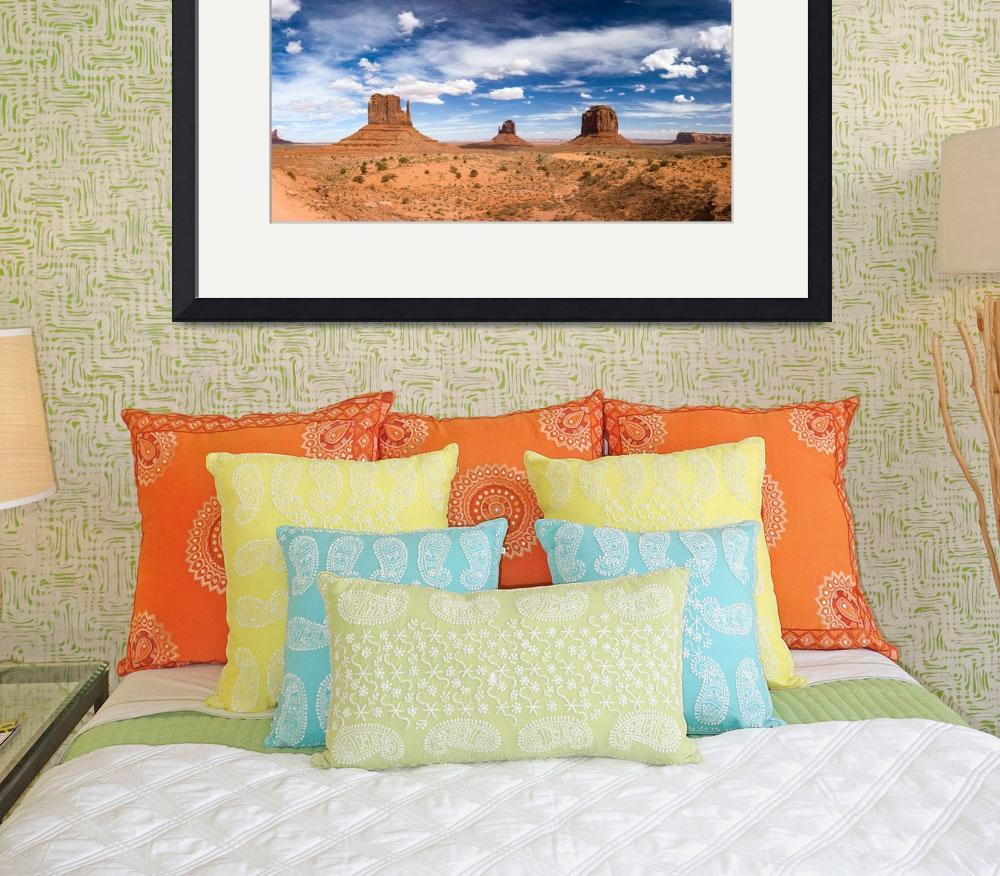 """Monument Valley Daytime Panoramic Color&quot  by cyorkphoto"